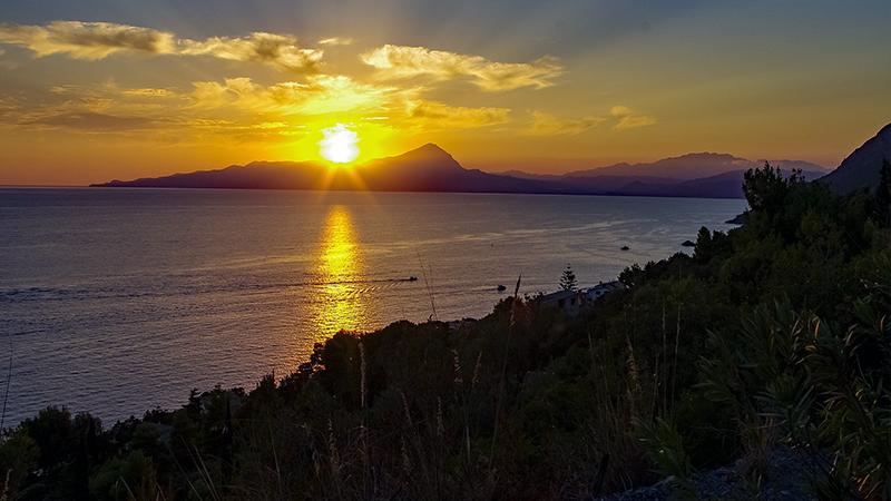 tramonto mare maratea